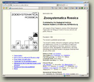 Site of the journal Zoosystematica Rossica